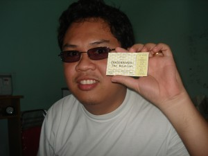 Eraserheads Reunion Ticket