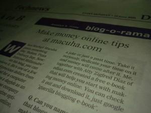 Macuha.com on Manila Bulletin