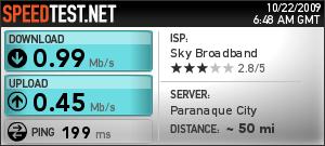 Sky Broadband Speedtest