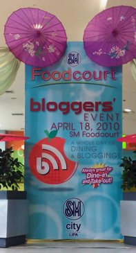 SM Lipa Foodcourt Blogger event