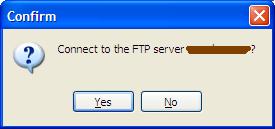 Confirm FTP