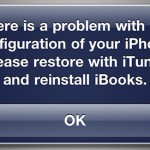 iBooks Error: There is a problem with the configuration of your iPhone