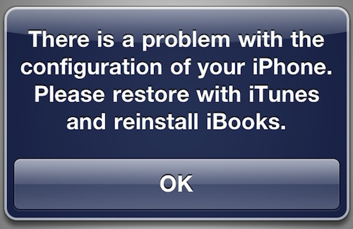 iBooks Error