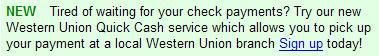 western union quick cash notice