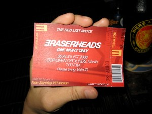 Eraserheads Ticket
