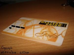 Western Union Gold Card