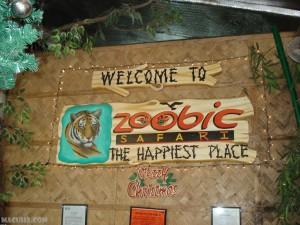 The Zoobic Safari Welcome Sign