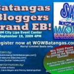 Batangas Bloggers Grand EB + Blogging Contest = Awesome Fun!