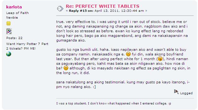 Perfect White Testimonial